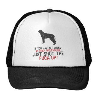 Wolfhound irlandés gorro de camionero