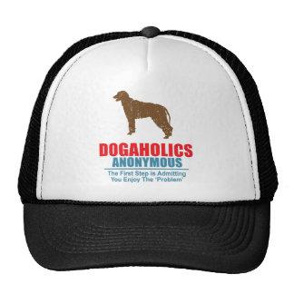 Wolfhound irlandés gorros bordados