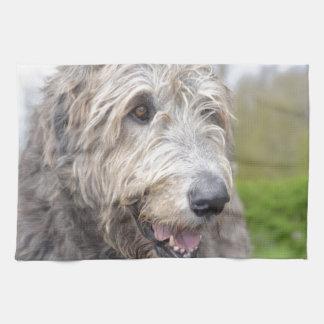Wolfhound irlandés lindo toalla de cocina