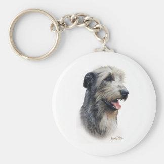Wolfhound irlandés llavero personalizado