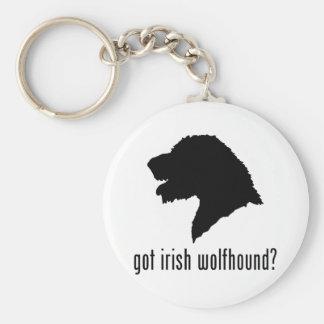 Wolfhound irlandés llavero redondo tipo pin