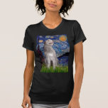 Wolfhound irlandés - noche estrellada (Vert) Camiseta