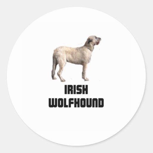 Wolfhound irlandés pegatina redonda