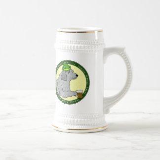 Wolfhound irlandés Stein de la cerveza dorada famo Jarra De Cerveza