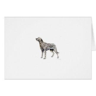 Wolfhound irlandés felicitacion