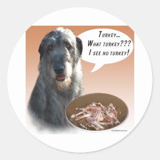 Wolfhound irlandés Turquía Etiquetas Redondas