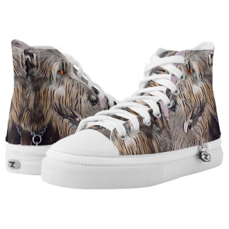 Wolfhound Profile in Pastel High-Top Sneakers