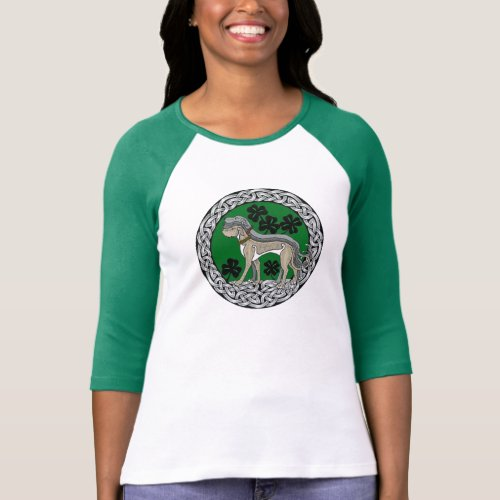 Wolfhound Strong Celtic Shield T_Shirt