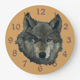 Wolfie Large Clock