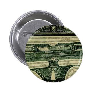 Wölfli 'Petrol' Fine Art 2 Inch Round Button