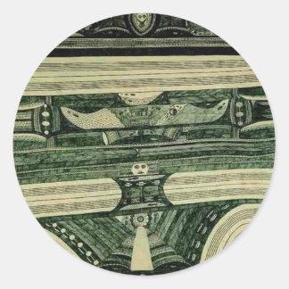 Wölfli 'Petrol' Fine Art Classic Round Sticker