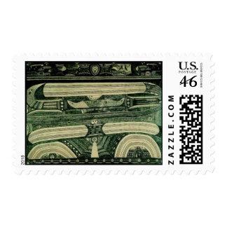 Wölfli 'Petrol' Fine Art Postage Stamp