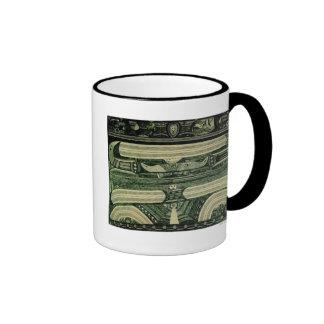 Wölfli 'Petrol' Fine Art Ringer Coffee Mug