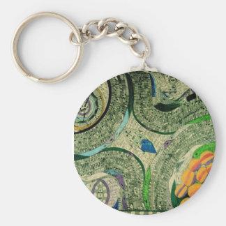 """Wölfli """"Saint Mary Castle"""" Fine Art Basic Round Button Keychain"""