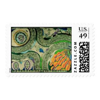 Wölfli 'Saint Mary Castle' Fine Art Postage Stamp