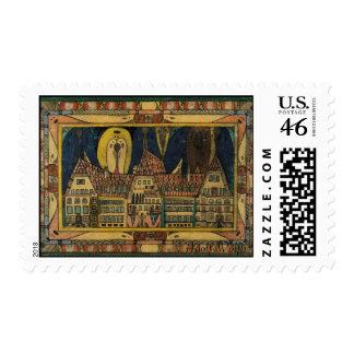 Wölfli's 'Waldau' Fine Art Postage Stamp