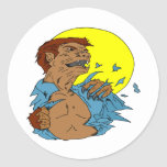 Wolfman Etiqueta Redonda