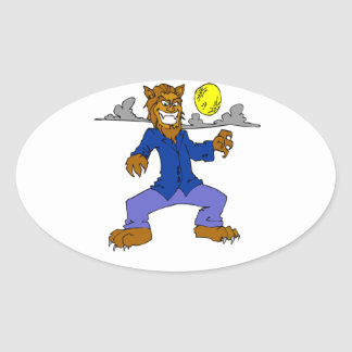 Wolfman Oval Sticker