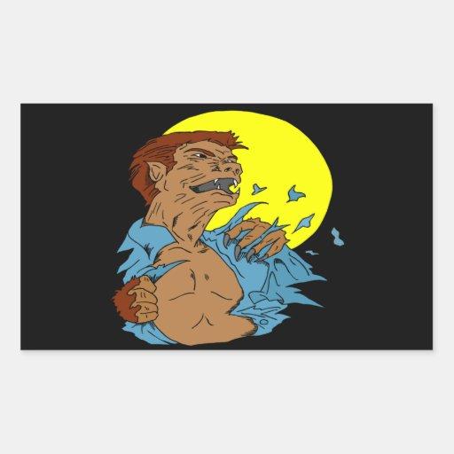 Wolfman Pegatina Rectangular