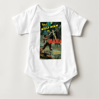 WOLFMAN VS DRACULA by Philip J. Riley Baby Bodysuit