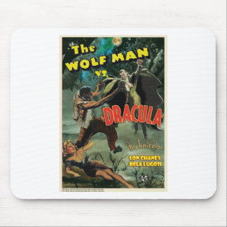 WOLFMAN VS DRACULA by Philip J. Riley Mouse Pad