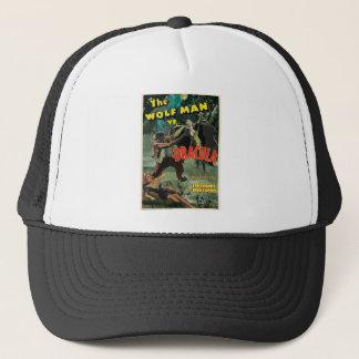 WOLFMAN VS DRACULA by Philip J. Riley Trucker Hat