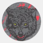 Wolfpack Pegatina Redonda