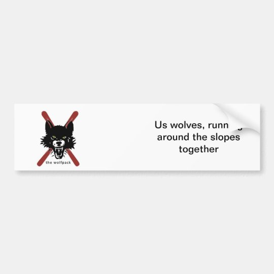 Wolfpack ski pole sticker