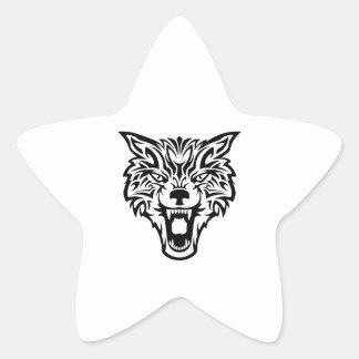 WOLFS HEAD STAR STICKER