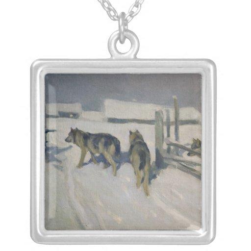 Wolfs, la noche del invierno, c.1910 joyería