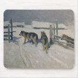 Wolfs, la noche del invierno, c.1910 tapete de ratón