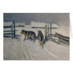 Wolfs, la noche del invierno, c.1910 tarjetón