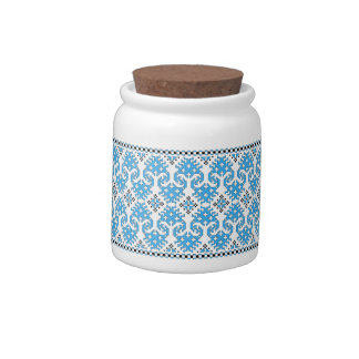 Wolf's Paw Candy Jar (blue & black)