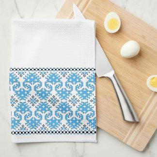 Wolf's Paw Kitchen Towel (blue & black)