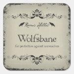 Wolfsbane Halloween Jar Sticker Label