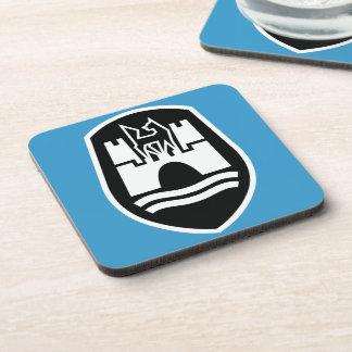 Wolfsburg Coat of Arms (black white) Drink Coaster