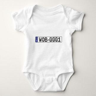 Wolfsburg License Plate Baby Bodysuit