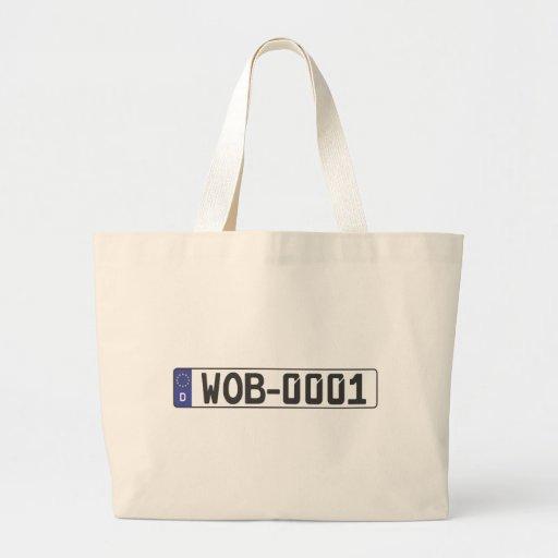 Wolfsburg License Plate Canvas Bag