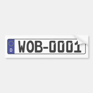Wolfsburg License Plate Bumper Sticker