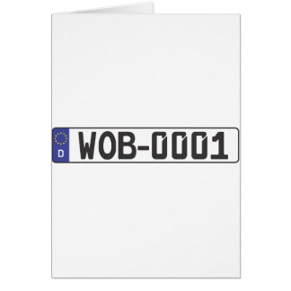Wolfsburg License Plate Greeting Card