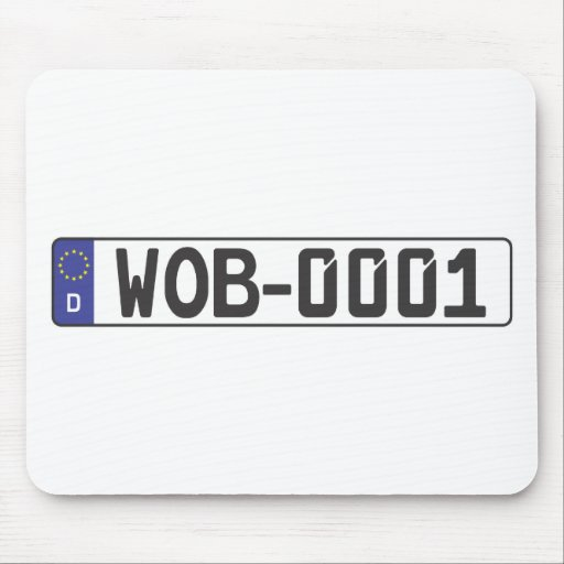 Wolfsburg License Plate Mouse Pad