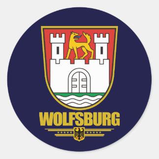 Wolfsburgo Pegatina Redonda