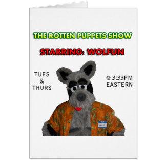 Wolfun - demostración de marionetas putrefacta tarjeta de felicitación