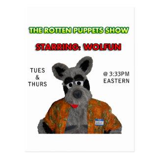 Wolfun - Rotten Puppets Show Postcard