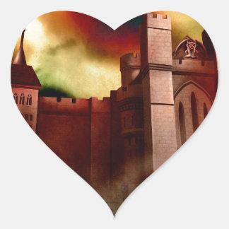 Wolgast Castle Heart Sticker