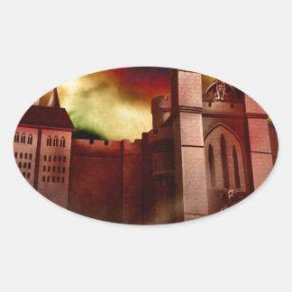 Wolgast Castle Oval Sticker