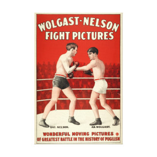 Wolgast-Nelson Fight Pictures - Restored Poster Canvas Print