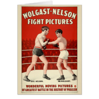 Wolgast-Nelson Fight Pictures - Restored Poster Card