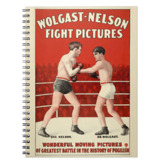 Wolgast-Nelson Fight Pictures - Restored Poster Spiral Notebook