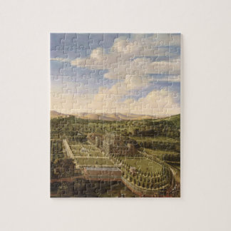 Wollaton Hall and Park, Nottingham, 1697 (oil on c Jigsaw Puzzle